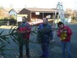 příprava na rozsvícení vánočního stromečku