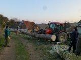 odvoz poraženého stromu